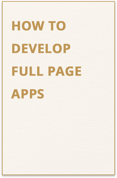 Develop Full Page Apps Guide